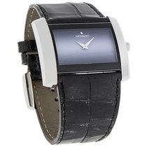 Movado Eliro Majesta Ladies Black White Dial Leather Swiss...