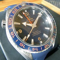 Omega Seamaster Planet Ocean Co-axial Gmt Steel 43.5mm Blue...