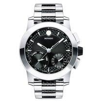 Movado Vizio Black Dial Mens Multifunction Watch 0607030