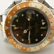 Rolex Gmt Master 16753 18k/ss 40mm Plastic Quickset Auto Watch