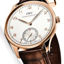IWC [NEW] Portugieser Hand Wound Pink Gold(Retail:HK$149,000)