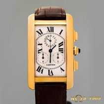 Cartier Tank  Americaine  18K Yellow Gold Chronograph BOX