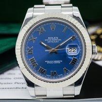 Rolex 116334 Datejust II Silver Dial Blue RomanSS (24645)