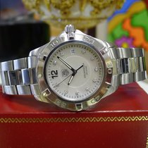 TAG Heuer Aquaracer Diamond Mother Of Pearl Dial Waf1115 Steel...