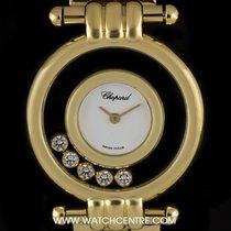 Chopard 18k Yellow Gold White Dial Happy Diamonds Ladies...