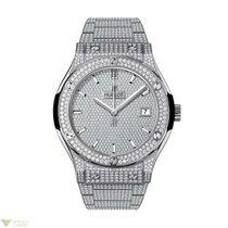 Hublot Classic Fusion Quartz Titanium diamonds bracelet...
