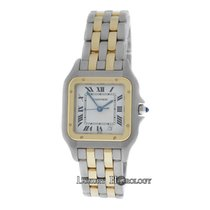 Cartier Mint Ladies Midsize 26MM anthere 187949 Two Row 18K Gold