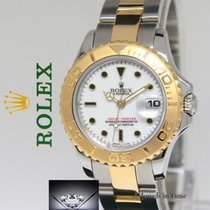 Rolex Yacht-Master 18k Yellow Gold/Stainless Steel White Dial...