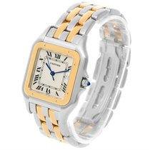 Cartier Panthere Jumbo Steel 18k Yellow Gold Two Row Watch