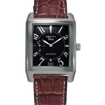 Zenith 01.0250.684 - on Brown Leather Strap with Black Dial