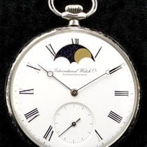 IWC Pocket Watch in Silver with Moonphase, Full set