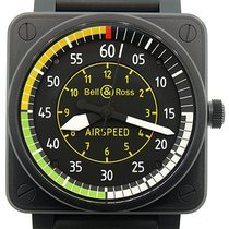 Bell & Ross Aviation BR01 Airspeed Black PVD Automatic...