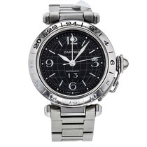 Cartier Pasha C Stainless Steel Automatic Black Dial Women&#39...