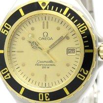 Omega Polished Omega Seamaster Professional 200m 18k Gold Mens...