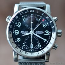 Alpina STARTIMER GMT VALJOUX 7754 AL750x4R16 42MM STAINLESS...