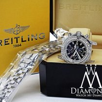 Breitling Super Avenger Black A13370 Automatic Watch Diamond...