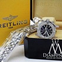 Breitling Super Avenger Black A13370 Automatic Watch Diamond...