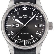 Fortis F-43 Flieger Automatic Steel Mens Watch Limited Edition...