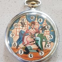 Doxa - Lepine pocket watch with erotic dial and moving...