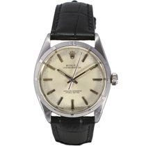 Rolex Oyster Perpetual Circa 1960 Leather Strap Stainless Steel