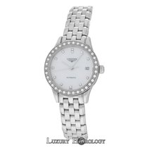Longines New Ladies   Flagship L42740876 Steel Watch Diamond MOP