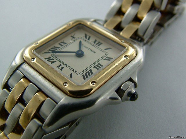 Cartier Panthere staal-goud, mini nr.2939