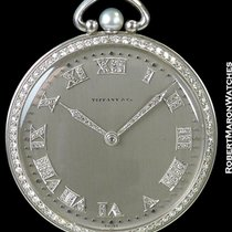 Tiffany Platinum Pocket Watch Diamond Bezels, Numerals &...