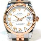 Rolex New Ladies Rolex Datejust 178271 White Roman Midsize...