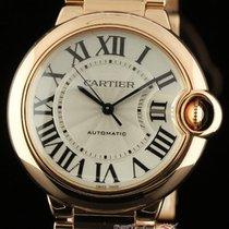 Cartier New Ballon Bleu Mid Size W69004z2 18k Pink Gold Silver...