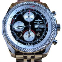 Breitling Bentley GT A13362 Black 44mm Chronograph Stainless...