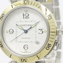 Cartier Polished Cartier Pasha 38 18k Gold Steel Automatic...