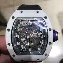 Richard Mille RM030 in White Ceramic with black rubber strap