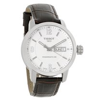 Tissot PRC 200 Mens Day/Date Brown Band Swiss Automatic Watch...