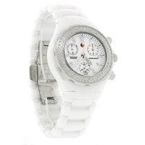 Michele Tahitian Diamond Ceramic Chronograph Quartz Watch...
