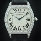 Cartier White Gold Diamond Tortue Mechanical Watch WA503851