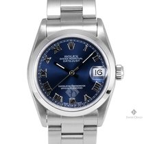 Rolex Datejust Stainless Steel Blue Roman Numeral Dial Smooth...