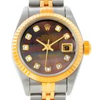 Rolex Datejust Ladies Steel 18k Yellow Gold Diamond Watch 79173