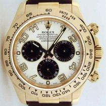 Rolex Cosmograph Daytona, White Dial, 18K Yellow Gold REF: 116518