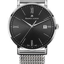 Maurice Lacroix Eliros Date Black Dial, Steel Milanaise Strap,...