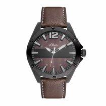 S.Oliver Herren-Armbanduhr Schwarz/Braun SO-2828-LQ