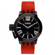 U-Boat Italo Fontana Classico Ceramic Black/White Diamonds...