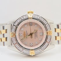 Breitling Callistino 18k Gold Steel MOP Dial Factory Setting