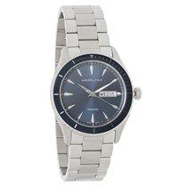 Hamilton Jazzmaster Mens Blue Dial Swiss Quartz Watch H37551141