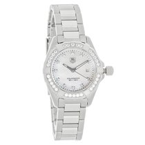 TAG Heuer Aquaracer Diamond Ladies Swiss Quartz Watch WAY1414....