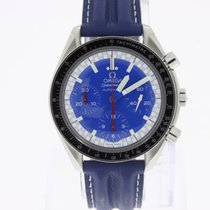 Omega Speedmaster Chronograph Michael Schumacher blue NEW NOS