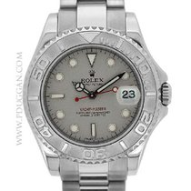 Rolex stainless steel and platinum mid-size Yachtmaster