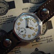 Longines enamel dial octagonal post-WW1 military watch - cal....