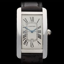 Cartier Tank Americaine Large 18k White Gold Gents 1741