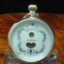 Popular Watches & Co 935 Silber Open Face Taschenuhr