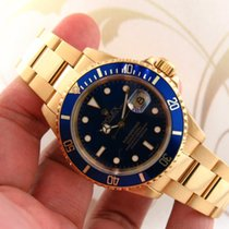 Rolex Submariner Ref. 16618 18k Yellow Gold Men Automatic Watch